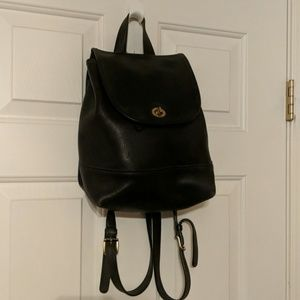 Black leather back pack